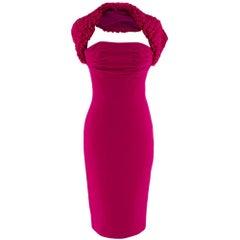 Giambattista Valli Pink Gathered Neck Bustier Dress 40