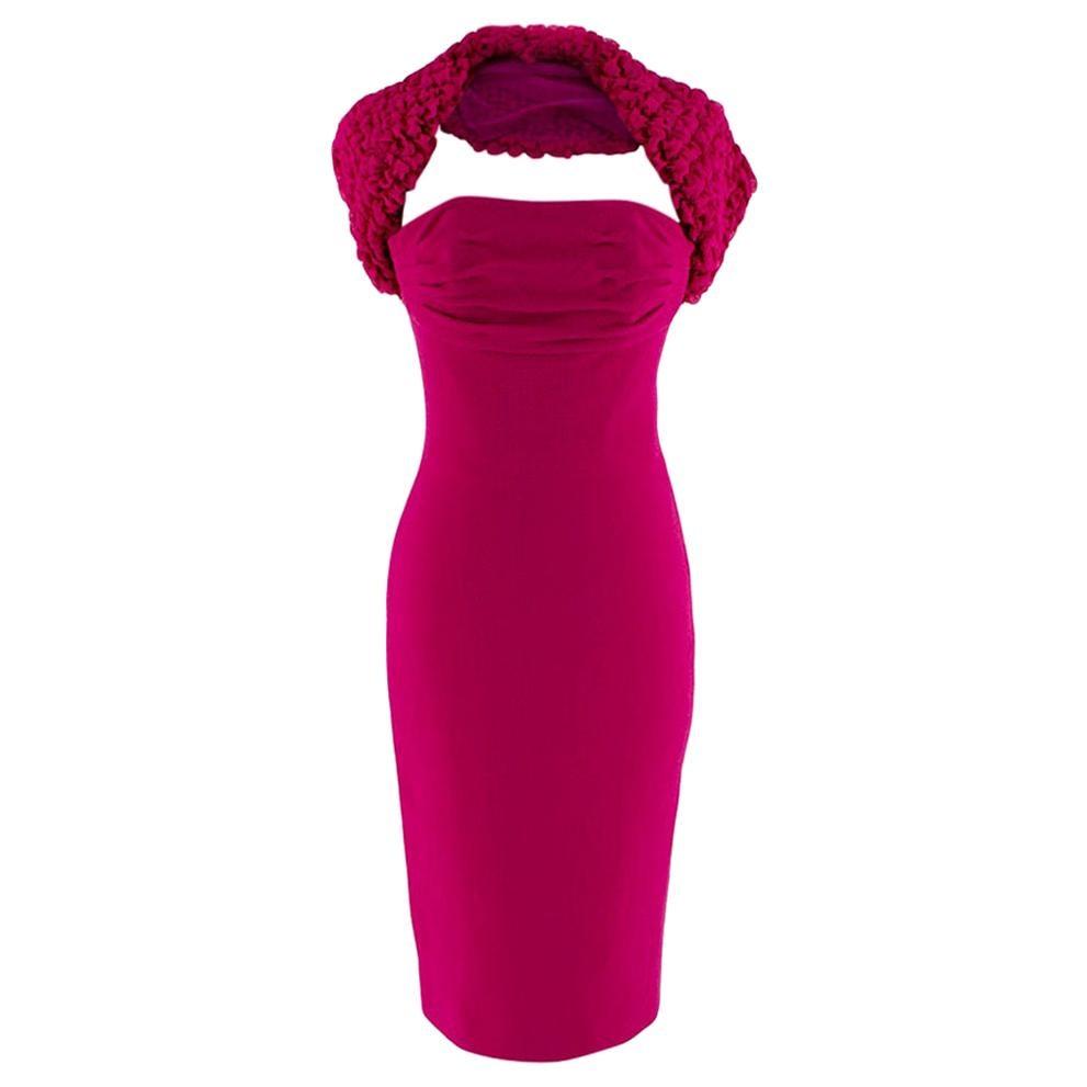 Giambattista Valli Pink Gathered Neck Bustier Dress - Size US 4