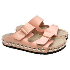Giambattista Valli Pink Studded Slides Size 39.5