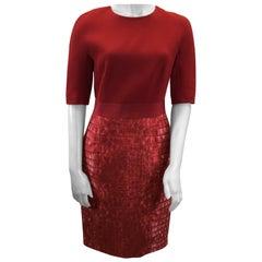 Giambattista Valli Red Print Dress