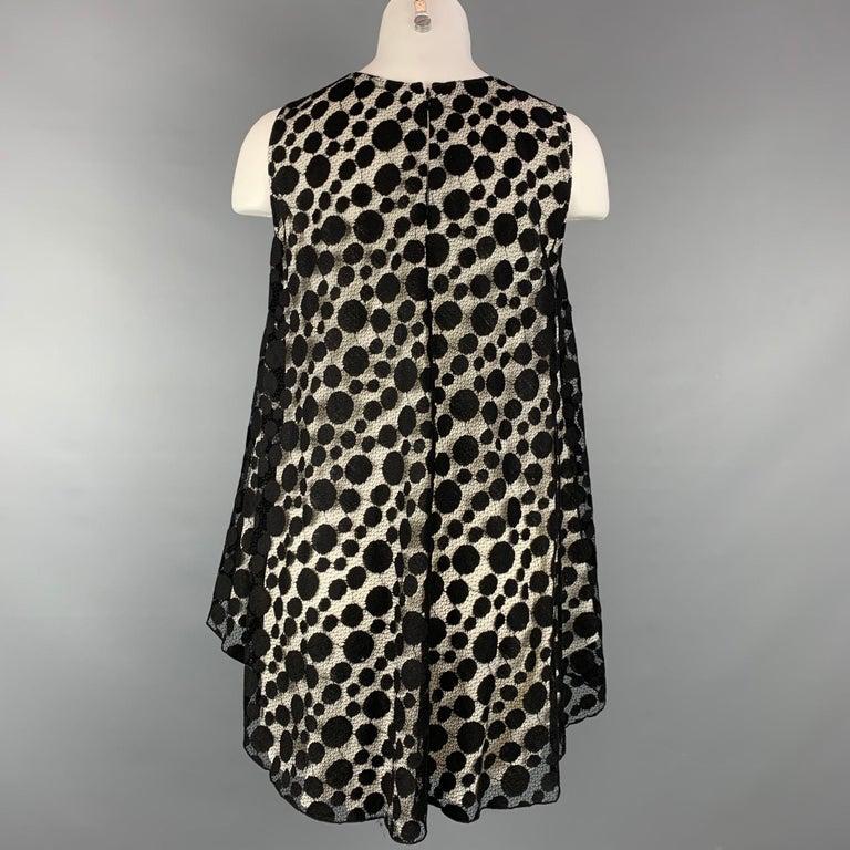 GIAMBATTISTA VALLI Size XS Black & White Cotton / Nylon Dress Top In Good Condition For Sale In San Francisco, CA