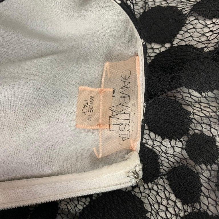 GIAMBATTISTA VALLI Size XS Black & White Cotton / Nylon Dress Top For Sale 1
