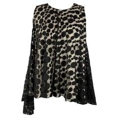 GIAMBATTISTA VALLI Size XS Black & White Cotton / Nylon Dress Top