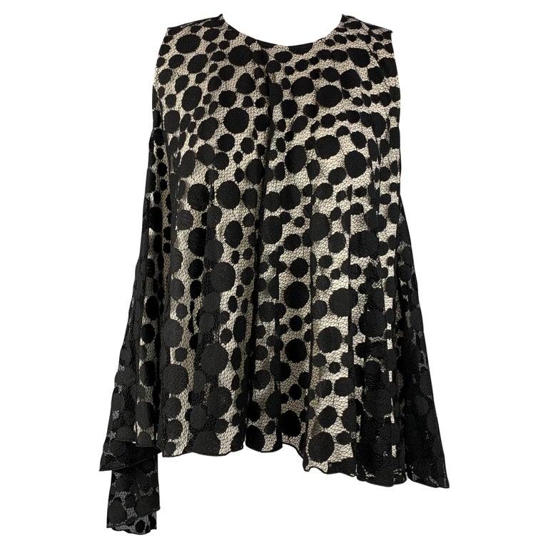 GIAMBATTISTA VALLI Size XS Black & White Cotton / Nylon Dress Top For Sale