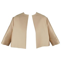 GIAMBATTISTA VALLI Size XS Pink Cotton / Silk Cropped A Line Bolero Jacket