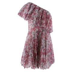 Giambattista Valli x H&M Off The Shoulder Floral Chiffon Dress - US8