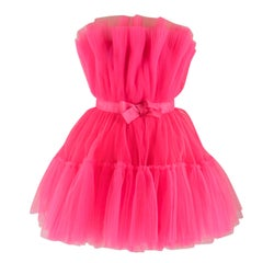 Giambattista Valli x H&M Pink Flared Tulle Dress 14 UK
