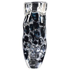 "Giampaolo Seguso,"" La Pesca"" Vase, One of a Kind Murano Glass Art Works"