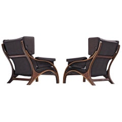 Giampiero Vitelli Pair of Customizable Lounge Chairs
