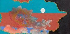 Caribbean Nights - Surrealist Landscape Oil Painting
