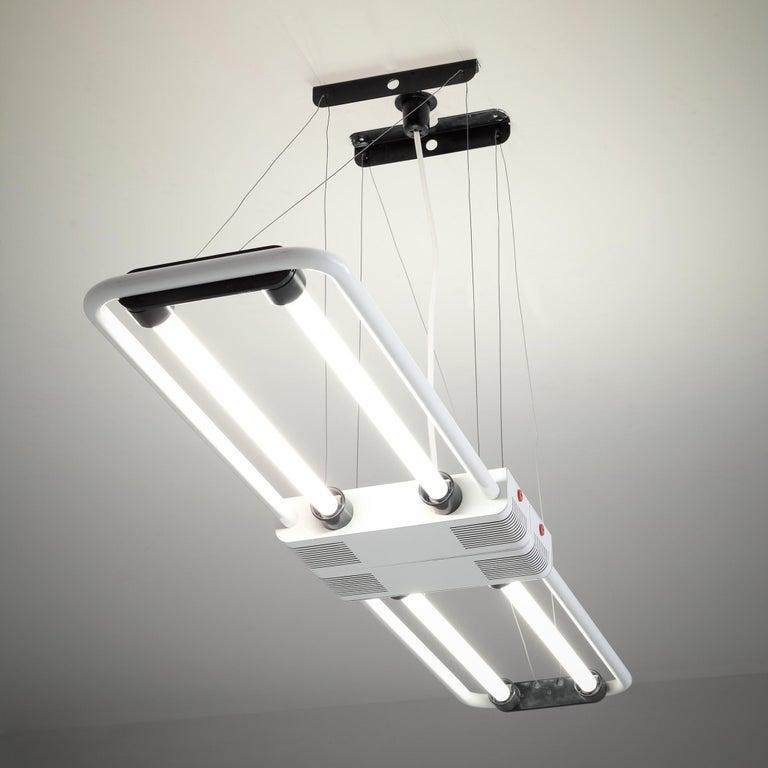 Post-Modern Gian Nicola Gigante Fluorescent 'Chandelier' For Sale