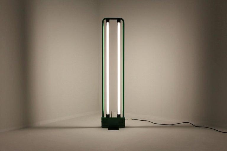 Gian Nicola Gigante Italy 1981 Green Neon Floor Lamp ...