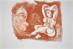 Homage to Picasso - Original Lithograph by Gian Paolo Berto - 1974