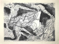 Torrent - Original Etching by Gian Paolo Berto - 1975
