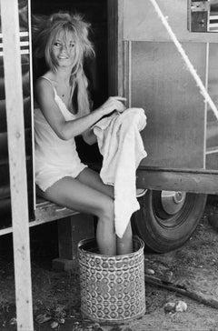 'Bardot Cleans Up' Brigitte Bardot Limited Edition Silver gelatin print