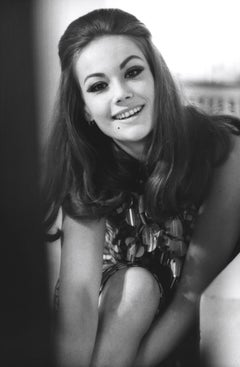 Claudine Auger: French Bond Girl Smiling Globe Photos Fine Art Print