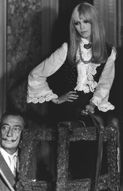 Salvador Dali with Brigitte Bardot Globe Photos Fine Art Print