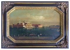 VENICE - Giancarlo Gorini Italian Landscape Oil on Canvas Painting