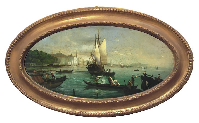 Giancarlo Gorini Landscape Painting - VENICE - In the Manner of Canaletto - Italian Landscape Oil on Canvas Painting