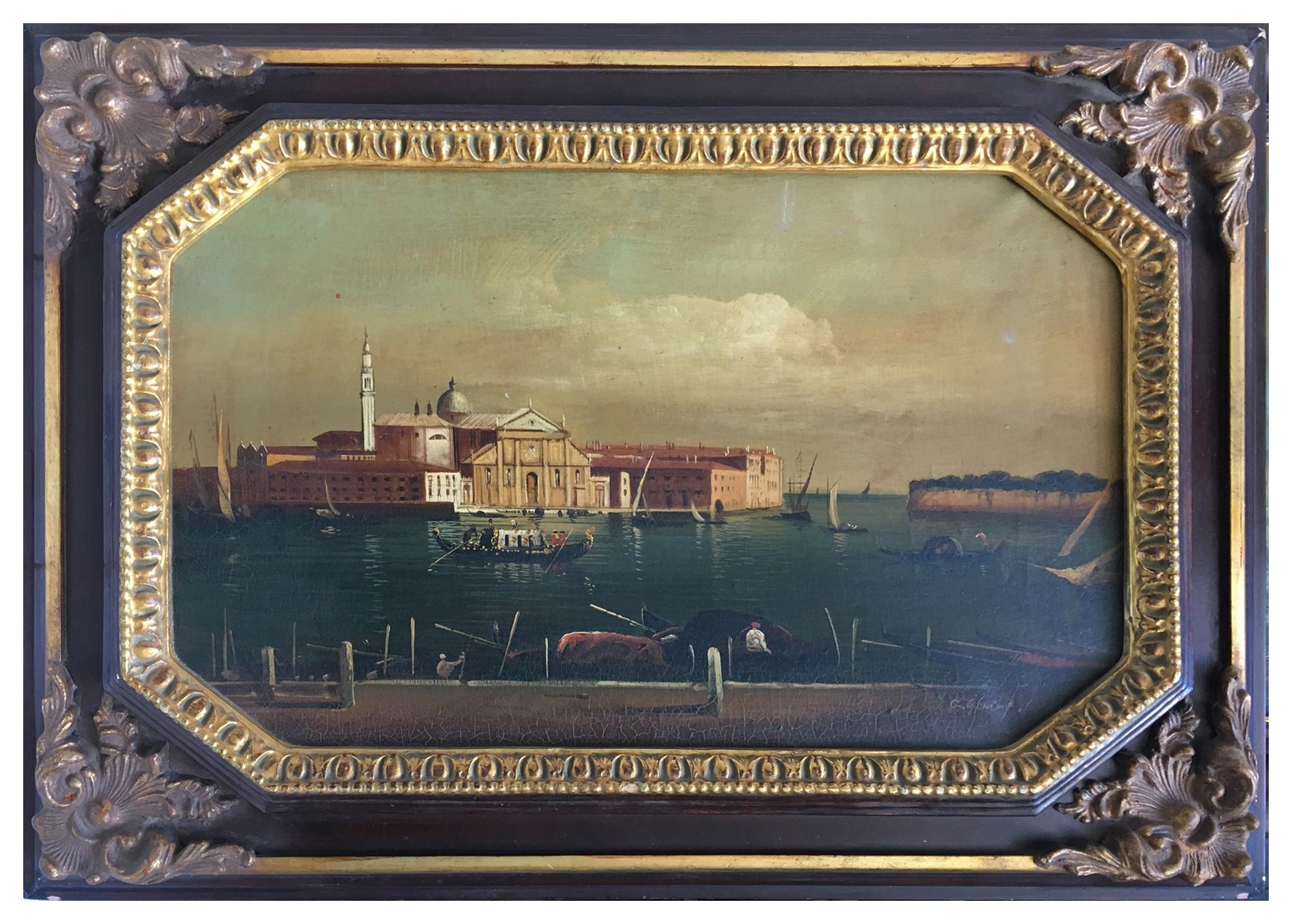 VENICE - In the Manner of Canaletto - Italian Landscape Oil on Canvas Painting