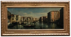 VENICE - In the Manner of Canaletto-  Italian Oil on Canvas Landscape Painting
