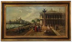 VENICE - Italian landscape oil on canvas painting, Giancarlo Gorini