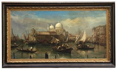 VENICE SAN GIORGIO ISLAND- In the Manner of Canaletto - Oil on Canvas Painting