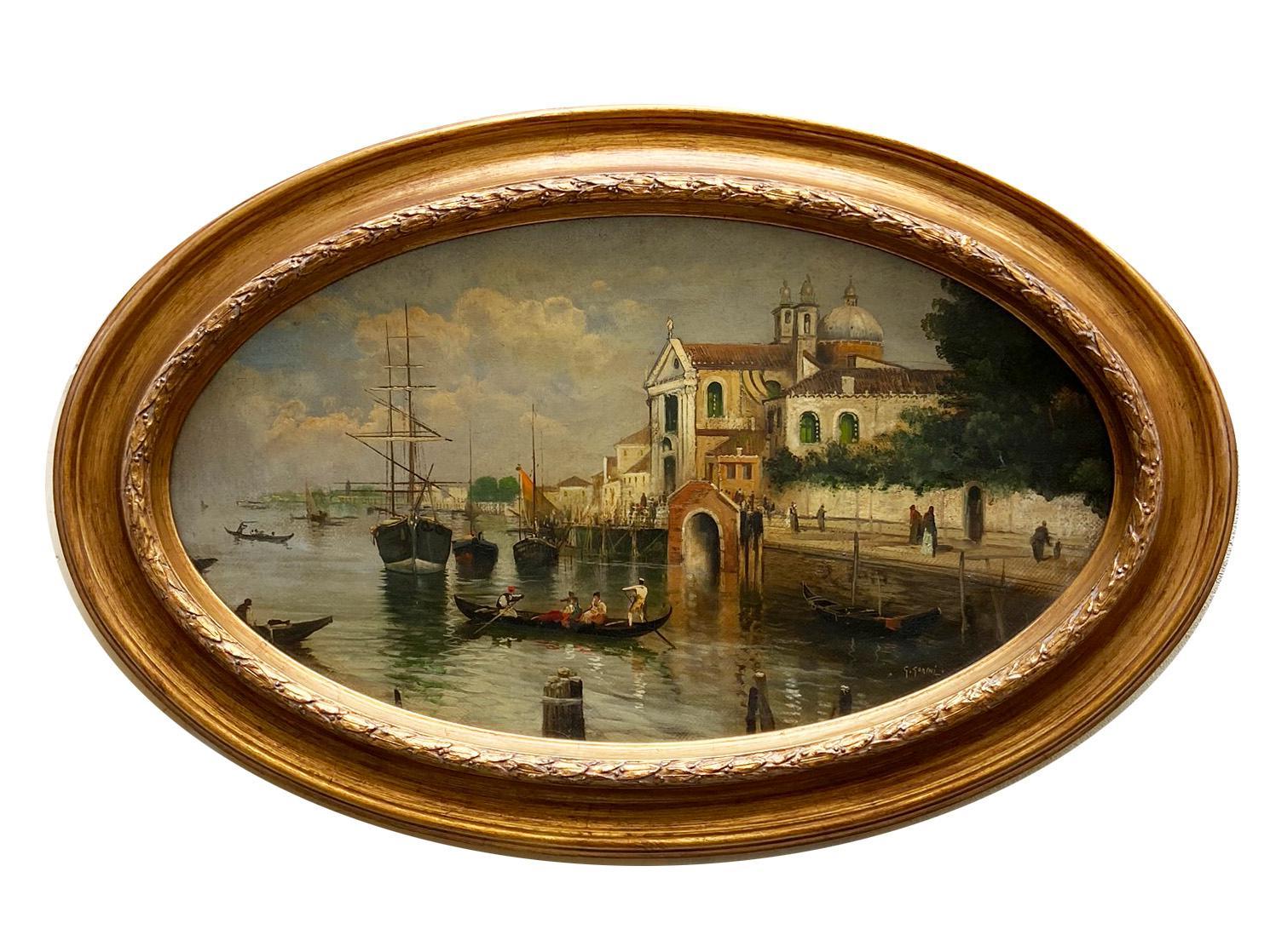 VENICE - Italian Landscape Oil on Canvas Painting