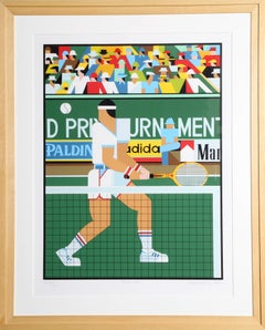 """Tennis Player,"" Serigraph, 1982"
