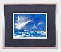 Marine - Original Woodcut Print by Giancarlo Isola - 1970s
