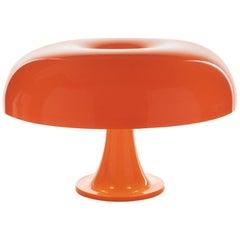 Giancarlo Mattioli 'Nesso' Table Lamp in Orange for Artemide
