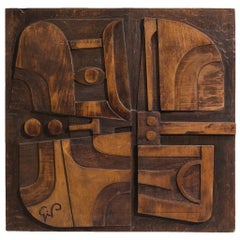 Giancarlo Patuzzi Wooden Wall Panel