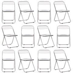 Giancarlo Piretti Folding Plia Chairs for Castelli, Italy