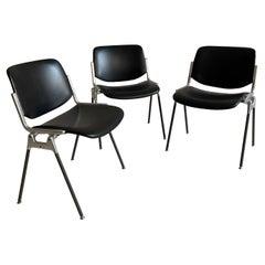 Giancarlo Piretti for Castelli DSC 106 Chairs, Italy 1970