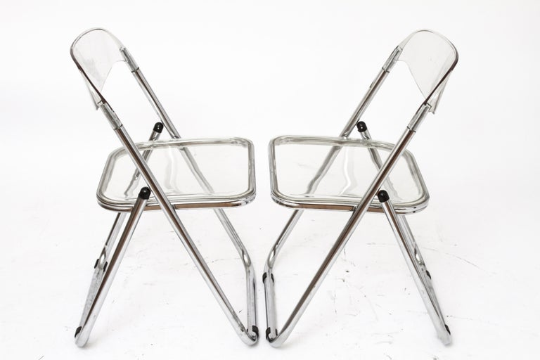 Giancarlo Piretti for Castelli Modern 'Plia' Acrylic Chairs In Good Condition For Sale In New York, NY