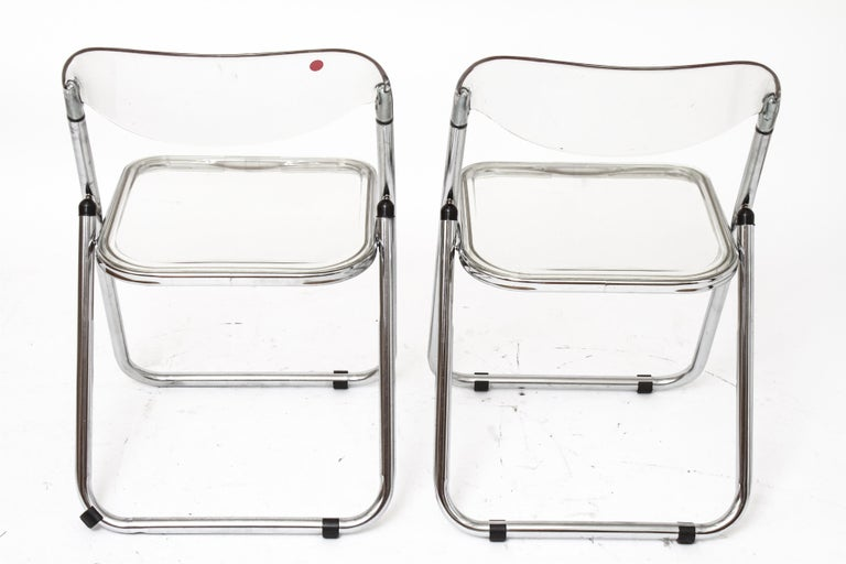 20th Century Giancarlo Piretti for Castelli Modern 'Plia' Acrylic Chairs For Sale