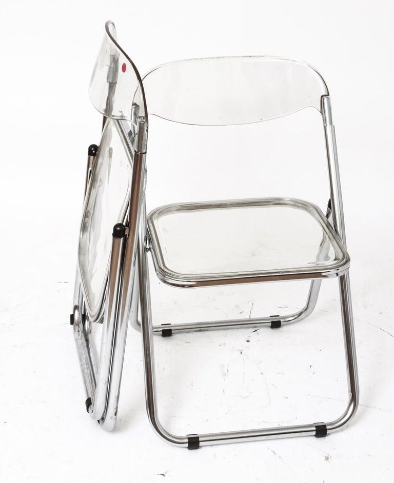 Giancarlo Piretti for Castelli Modern 'Plia' Acrylic Chairs For Sale 1