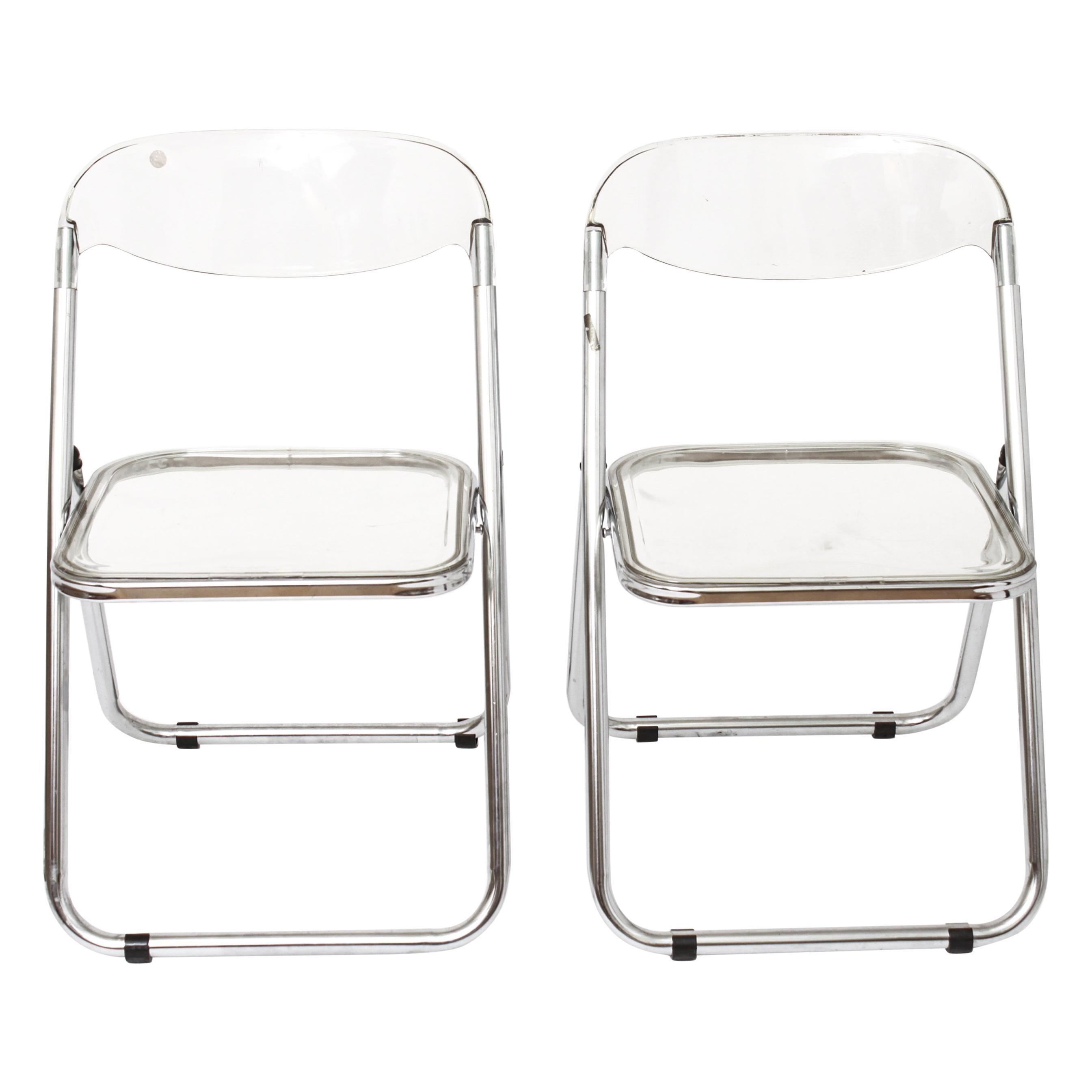 Giancarlo Piretti for Castelli Modern 'Plia' Acrylic Chairs