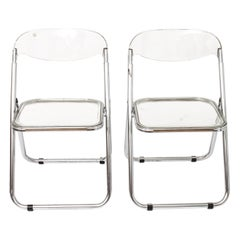 Giancarlo Piretti for Castelli Modern 'Plia' Acrylic Chairs