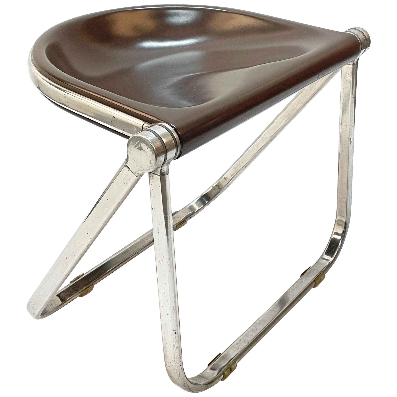 "Giancarlo Piretti ""Pluff"" Italian Folding Chair for Anonima Castelli, 1960s"