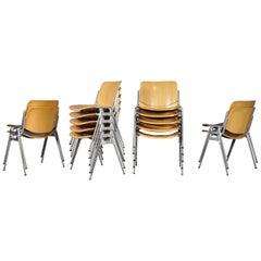 Giancarlo Piretti Stacking Dining Chairs Model DSC-106 by Anonima Castelli, 1970