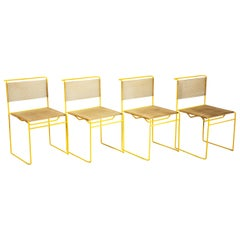 Giandomenico Belotti Set of Four Yellow 'Spaghetti Chair' for Fly Line, 1970s