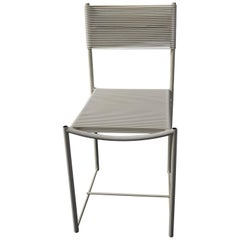 Giandomenico Belotti White Spaghetti Chair for Alias Italy, 1980s