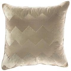 Gianfranco Ferre Alameda Beige Cushion in Velvet and Shantung