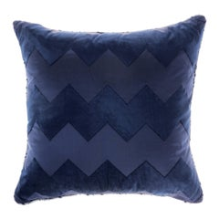 Gianfranco Ferré Alameda Blue Cushion in Velvet and Shantung
