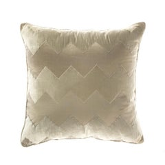 Gianfranco Ferré Alameda Pillow in Beige Velvet