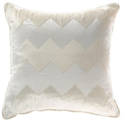Gianfranco Ferré Alameda White Cushion in Velvet and Shantung