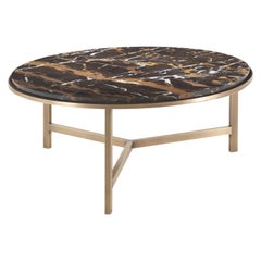 Gianfranco Ferré Home Ascott Center Table in Metal and Marble top