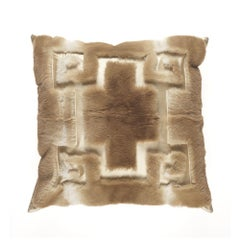 Gianfranco Ferré Athena Negative Pillow in Beige Orylag Fur