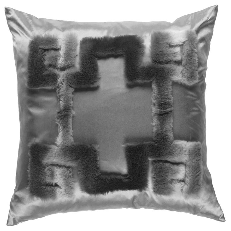 Gianfranco Ferré Athena Positive Grey Cushion in Orylag For Sale